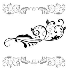 floral ornament set of black dividers vector image vector image