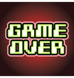 Game over sign vector image vector image