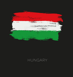 hungary colorful brush strokes painted national vector image vector image