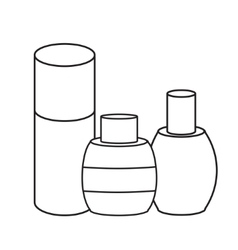 hygiene icons beauty and cosmetics vector image