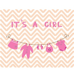 it is a girl vector image vector image