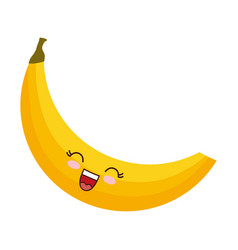 Kawaii banana icon vector