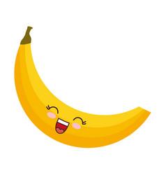 Kawaii banana icon vector
