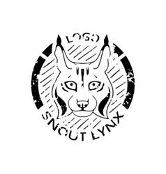 Logotype with lynx vector