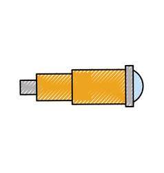 Marine telescope isolated icon vector