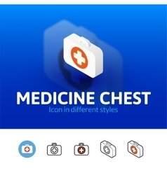 Medicine chest icon in different style vector image vector image