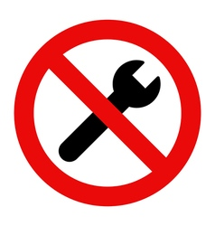 No repair sign vector image vector image