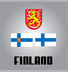 Official government elements of finland vector