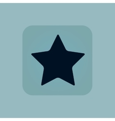 Pale blue star icon vector image
