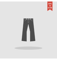 Pants icon Flat design style vector image vector image