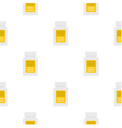 Pharmaceuticals bottle pattern seamless vector
