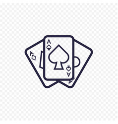 Playing card icon casino game ace poker cards vector