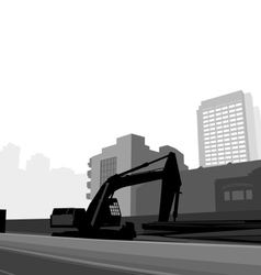 Road construction vector