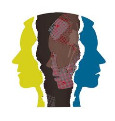 Schizophrenia depression concept vector