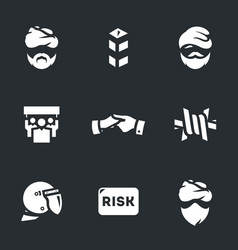 set of immigration risk icons vector image vector image