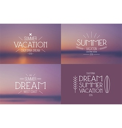 Set of summer vacation badges vector