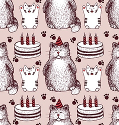 Sketch Birthday pattern vector image