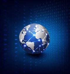 Technology futuristic communication background vector