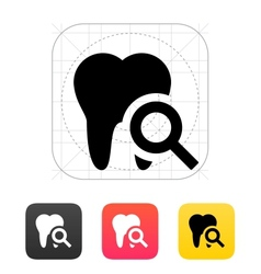Tooth diagnostic icon vector