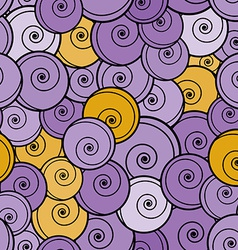 Violet and yellow curls seamless pattern vector image