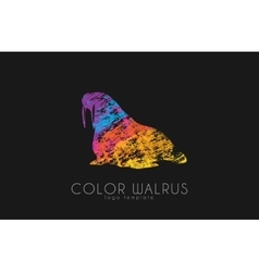 Walrus color walrus logo creative logo design vector