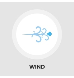 Wind icon flat vector image