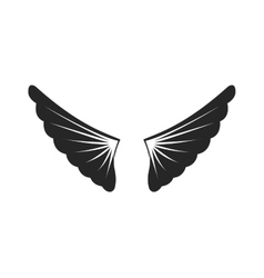 Wings siilhouette vector image