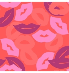 seamless background lips prints vector image