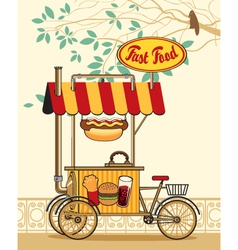 trolley wheel for fast food vector image