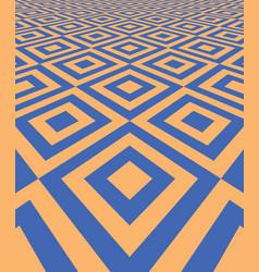 Abstract background with perspective tiled floor vector