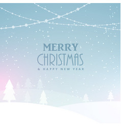 Merry christmas celebration background with snow vector