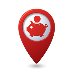 Copypig icon red map pointer vector