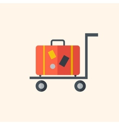 Luggage travel flat icon vector