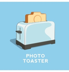 Photo toaster abstract vector