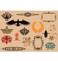 heraldic elements vector image