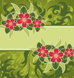 Background flower vector