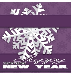 Holiday card with snowflakes and says happy new vector