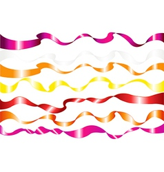 7 Colorful Ribbons vector image vector image
