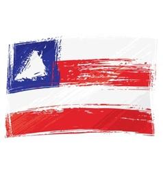 Grunge Bahia flag vector image