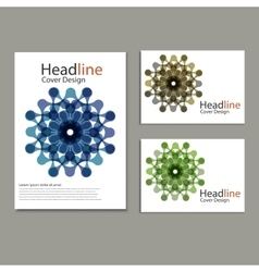 Pattern with abstract figures brochures vector