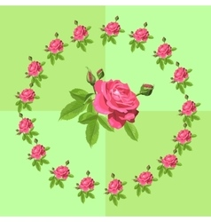 Beautiful card with roses vector image