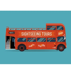 Double decker bus for sightseeing vector