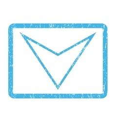 Arrowhead down icon rubber stamp vector