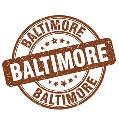 Baltimore brown grunge round vintage rubber stamp vector