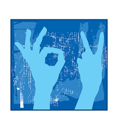 Blue hands vector