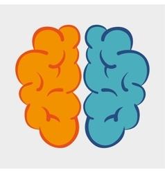 Brain memory science icon graphic vector
