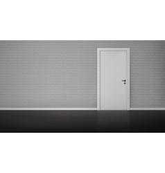Brick wall with door vector image