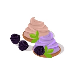 Cake with Blueberries vector image