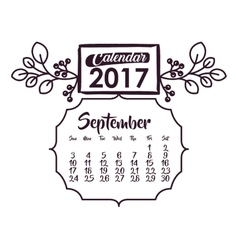 Calendar of 2017 year design vector