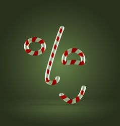 Candy cane excited face vector